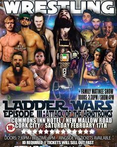 With Storm Emma on the horizon why not catch up on all the recent CCW action! You can watch CCW Riot: Ladder Wars Episode 3 on our CCW OnDemand or listen to this weeks CCW Podcast with Marion Armstrong & Kurt Simmons!  #CCW #wrestling #StormEmma #Cork #Ireland #IndyWrestling #Podcast #StarWars