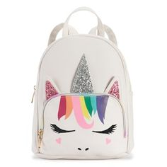 She's sure to love this colorful rainbow unicorn mini backpack from OMG Accessories. Baby Dolls For Kids, My Little Pony Dolls, Unicorn Fashion, Unicorn Gifts, Unicorn Party, Disney Bound Outfits, Cute Notebooks, Girl Backpacks, Rainbow Unicorn
