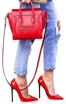 Céline Leather Cross Body Bag