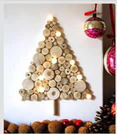 easy ideas for handmade christmas decor spread holiday cheer with these wall christmas tree alternative christmas tree ideas and other holiday ideas - Alternative Christmas Tree Decorations