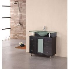 "Design Element Cascade 35"" Single Bathroom Vanity - Espresso Ads Order : image"