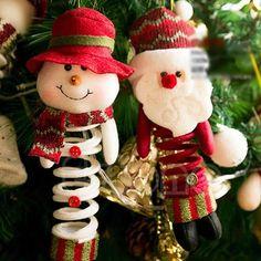 Christmas Cute Santa Snowman X'mas Pendant Ornaments Tree Party Decoration Gift #Unbranded Mariah tree.