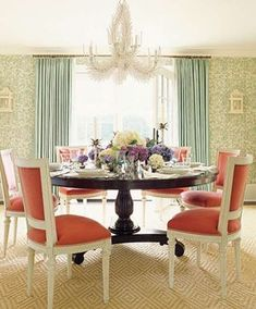 Lighter & Brighter Kitchen Cabinets - How to Update Your Kitchen Cabinets House Of Turquoise, Light Turquoise, Dining Room Design, Dining Room Chairs, Dining Area, Dining Tables, Kitchen Design, Pedestal Tables, Wood Pedestal