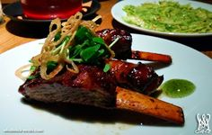 From the meat-loving minds behind the Red Apron, the first and only butcher shop in the nation to use Animal Welfare Approved pork, com. Lamb Ribs, Red Apron, Restaurant Dishes, Steak, Pork, Kale Stir Fry, Steaks, Pork Chops