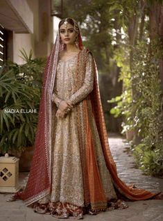 A-Line Wedding Dresses Collections Overview 36 Gorgeou… Asian Bridal Dresses, Asian Wedding Dress, Pakistani Wedding Outfits, Indian Bridal Outfits, Pakistani Wedding Dresses, Indian Dresses, Exotic Wedding, Formal Wedding, Pakistani Bridal Couture