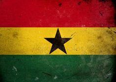 Bandera de grunge de ghana