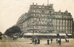 Voici le restaurant Lavenue, vers 1905, à l'angle de la rue du Départ (à droite) et du boulevard du Montparnasse