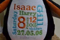 #Cubbies #personalised baby gifts www.babycubbies.com Bramble Rose