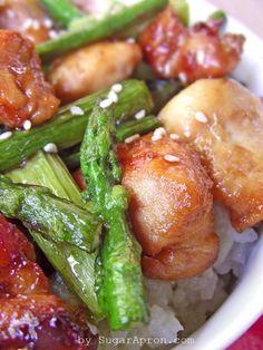 Quick Stir-Fry Chicken & Asparagus Recipe   www.sugarapron.com  A #maindish that takes less than 15 minutes to #prepare.