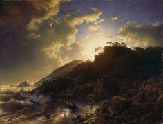 File:Andreas Achenbach - Sonnenuntergang nach einem Sturm an der Küste von Sizilien.jpg