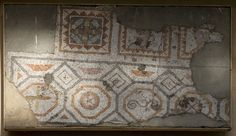 Mosaic pavement with geometric pattern from Antioch (3rd century A.D.) - Princeton University Art Museum