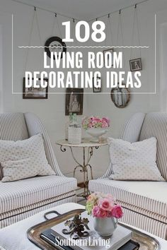 108 Living Room Decorating Ideas | What ever your style–we've got the decorating tips and ideas for your beautiful living room, beautiful family room, or your beautiful den. One thing is for sure, you'll be inspired by all of these chic decorating ideas. #homedecorideas #southernliving #decor