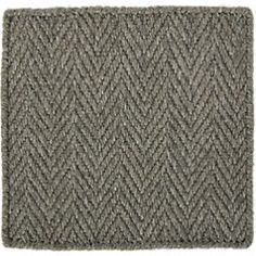Shop Grey Herringbone Rug 4'x6'.  Heathered wool-blend yarns in dark grey create a neutral layer of textured elegance in any room.