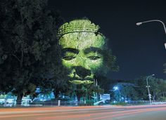 20 Unbelievable Pictures That We Swear Aren't Photoshopped - brainjet.com As hard as it may be to believe, this photograph is completely unedited. French artist Clement Briend is responsible for illuminating 3D faces onto trees with multiple large format projectors.