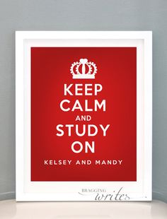 Dorm Room Decor or Wall Art - Personalized Roommate and College Gift - Printable (Keep Calm Theme)). $15.00, via Etsy.