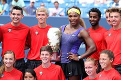 Serena Williams through the years All smiles in Cincinnati      Serena Williams poses during the trophy presentation after defeating Ana Ivanovic to win the Western & Southern Open in Cincinnati on Aug. 17, 2014