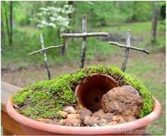 Easy EaSTeR GaRDeN DIY ____THe eMpTY ToMB