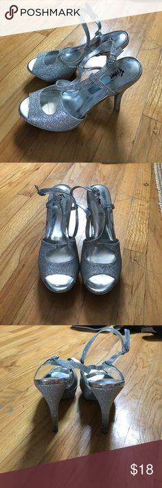 Silver Heels Silver heels! Perfect for a night out or a fancy occasion. Shoes Heels