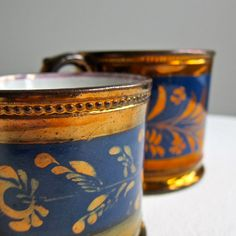 Copper Lustre Pottery Mugs |Pinned from PinTo for iPad|