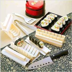 10Pcs Sushi mould set DIY Sushi Device Tools Free Shipping