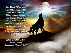 Wolf Howling at the Full Moon Art Print Raven And Wolf, Demon Wolf, Wolf Love, Wolf Tattoos, Fantasy Kunst, Fantasy Art, Wolf Deviantart, Chief Seattle, Native American Pictures