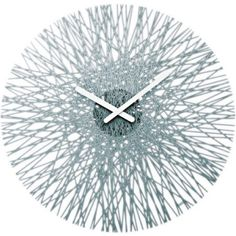 Buy Koziol Silk Wall Clock - Anthracite from our Wall Clocks range at Red Candy, home of quirky decor. Grey Wall Clocks, Beautiful Compliments, Design3000, London Clock, Unusual Clocks, Quirky Decor, Tabletop Clocks, How To Make Wall Clock, Modern Clock