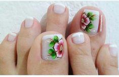 Cute Toe Nails, Cute Toes, Toe Nail Art, Beautiful Toes, Toe Nail Designs, Manicure, Finger, Lily, Toenails