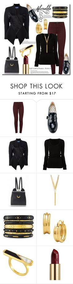 """""""TGIF!!"""" by helenaymangual ❤ liked on Polyvore featuring J Brand, Tommy Hilfiger, Thierry Mugler, DRKSHDW, WithChic, BERRICLE, Ashley Pittman, Edge of Ember and Urban Decay"""