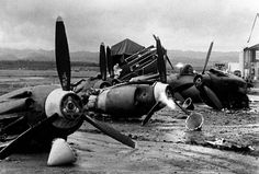8 The shattered wreckage of American planes bombed by the Japanese in their attack on Pearl Harbor is strewn on Hickam Field, Dec. (AP Photo) Photo by Add this to feed Marie Curie, Nagasaki, Hiroshima, Remember Pearl Harbor, Uss Arizona, Pilot, Imperial Japanese Navy, Pearl Harbor Attack, China