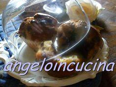 Muffin con cuore caldo alla nocciola e gocce di cioccolato