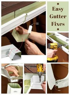 home repairs,home maintenance,home fixes,home maintenance tips,home repair diy Gutter Drainage, Diy Gutters, Home Fix, Diy Home Repair, Home Repairs, My New Room, Home Improvement Projects, Home Renovation, Bricolage