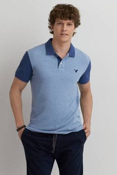 AEO Colorblock Polo  by AEO | These aren't the polos you remember. Bold colors and details reinvent the iconic staple.  Shop the AEO Colorblock Polo  and check out more at AE.com.