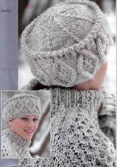 Aran Hat free pattern.. made with worsted weight yarn and straight needles.. ...