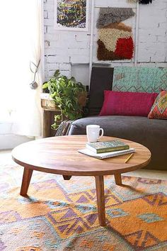 Assembly Home Round Modern Coffee Table - Urban Outfitters I think that this would look great in MY living room. Decor, Modern Coffee Tables, Modern Living Room, Family Room, Decorating Coffee Tables, Home And Living, Round Coffee Table Modern, Table Decor Living Room, Coffee Table