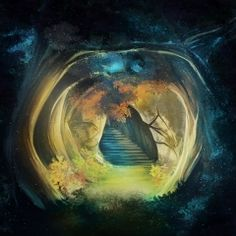Secret Tunnel Fantasy Wallpaper - for your android phone Cool Photos, Amazing Photos, Keyboard, How To Find Out, Fantasy, App, Painting, Instagram, Design