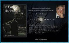 """22/11 ♥ Lançamento do Livro """"O Ceifador de Almas"""" de Roberto Ferrari ♥ SP ♥  http://paulabarrozo.blogspot.com.br/2016/11/2211-lancamento-do-livro-o-ceifador-de.html"""