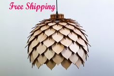 FREE SHIPPING .Wood Lamp, Wooden Lamp,Wooden hanging Lamp,Pendant Lamp,Hanging Lamp,pendant lights,,gift for housewarming,wooden gift.