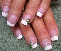 holly sprig french by aliciarock - Nail Art Gallery nailartgallery.nailsmag.com by Nails Magazine www.nailsmag.com
