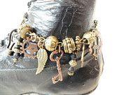 Steampunk Boot Jewelry  Bracelet Anklet