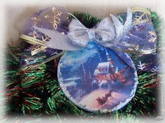 "Декупаж - Сайт любителей декупажа - DCPG.RU | Набор новогодних игрушек ""Зимняя сказка"" Christmas Wreaths, Christmas Bulbs, Christmas Decoupage, Holiday Decor, Blog, Home Decor, Decoration Home, Christmas Light Bulbs, Room Decor"
