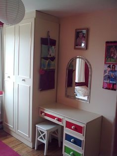spicing up dull wardrobes   diy projects It's really easy and cheap to update your old wardrobe.
