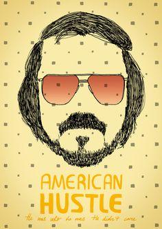 Made by Marianne Lock / Alternative Movieposter / American Hustle / Film / Poster / FOR SALE Minimal Movie Posters, Cinema Posters, Harmony Korine, American Hustle, Film Movie, Movies, Alternative Movie Posters, Sale Poster, Beautiful Artwork