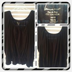 💜 Woman's Black Peplum Tunic Top Size 26/28 💜 Woman's Black Peplum Tunic Top From Lane Bryant Size Is 26/28. This Top Fits Smaller Due To Wear & Washing In Machine. Great For Spring & Summer. Excellent Condition ( PRICE IS FINAL ) 💜 Lane Bryant Tops Tunics