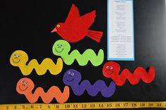 Wiggly Worm Flannel Board Story by PlayToLearnWithFelt on Etsy