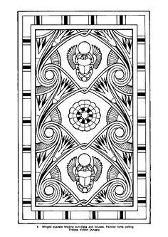 Coloriages egypte decoration