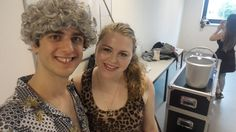 'George' (Kyle) and 'Jessica' (me) right before the show.