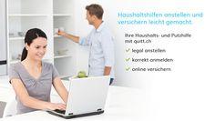 quitt.ch - der Spezialist für das legal Anstellen von Haushaltshilfen. Signs, First Aid, Woman, Shop Signs, Sign