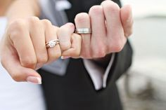 Pinky promise between the bride and groom