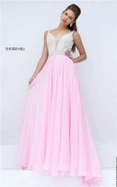mind-blowing 2016 Sherri Hill 11327 V-Neck Beaded V-Back Long Pink/Ivory Evening Gown  - $228.00 : 2016 Prom Dress Outlet Shop,Fashion Graduation Gowns in Cheap Price by Alice1990 in Retroterest. Read more: http://retroterest.com/pin/2016-sherri-hill-11327-v-neck-beaded-v-back-long-pinkivory-evening-gown-sherri-hill-11327-pinkivory-228-00-2016-prom-dress-outlet-shopfashion-graduation-gowns-in-cheap-price/