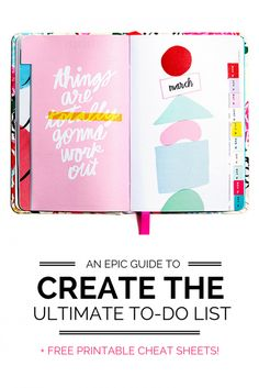 Think you know how to create a to-do list? Here's an Epic Guide to creating the ULTIMATE to-do list! Effectively organize your tasks to accomplish your goals, get rid of overwhelm and GET SHIZ DONE! Bujo, Printable Planner, Free Printables, Planners, Now Quotes, Bullet Journal, Time Management Tips, Life Organization, Lettering